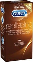 Durex Real Feeling Condooms - 10 stuks - Latex Vrij
