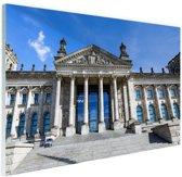 FotoCadeau.nl - Dem Deutschen Volke op de reichstag Glas 90x60 cm - Foto print op Glas (Plexiglas wanddecoratie)