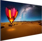 FotoCadeau.nl - De sterrenhemel boven de woestijn Aluminium 90x60 cm - Foto print op Aluminium (metaal wanddecoratie)
