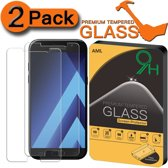 2 Stuks Pack Screen protector Anti barst Tempered glass Samsung Galaxy A3 2017