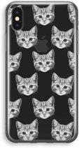 iPhone X Transparant Hoesje (Soft) - Kitten