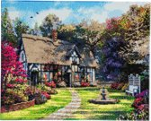 Diamond Painting Crystal Art Kit ® Country Cottage 40x50 cm, Full Painting
