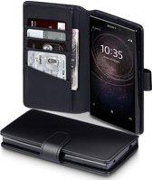 Sony Xperia L2 hoesje - CaseBoutique - Zwart - Leer