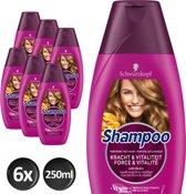 Schwarzkopf Shampoo Kracht & Vitaliteit 250 ml - 6 stuks - Voordeelverpakking