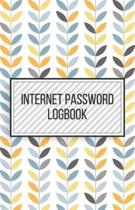 Internet Password Logbook-Small Size Alphabetical Password Notebook Organizer-5.5''x8.5'' 120 pages Book 9: Keep Track of Usernames Passwords Websites-B