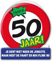 Verjaardagskaart 50jaar Verkeersbord