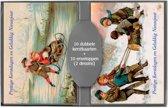 50 stuks Kerstkaarten - Nieuwjaarskaarten - Nostalgische - Vintage met envelop | 5 pakjes | serie 16-4