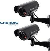 2 x Grundig Beveiligingscamera Dummy Met LED Zwart