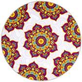 Mandala Onderzetters Rond Rood (Set van 6)