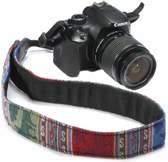DSLR / Nikon / Canon / Sony Vintage Nek Strap Band BLAUW