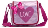 Zebra Trends Kinderflaptasje Love pink