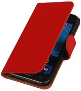 Samsung galaxy j1 2015 J100F Rood   bookstyle / book case/ wallet case Hoes    WN™