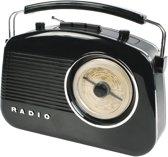 König - Retro Design AM / FM Tafelradio - Zwart