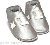 Baby Dutch slofjes Nr 1 zilver Maat: 18 Small (11,5 cm)