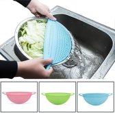 Afgiet deksel | afgietdeksel pan | afgiethulp | Keuken zeef | pannen zeef | Blauw