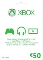 Microsoft Xbox Live 50 Euro Giftcard Kaart - Xbox 360 + Xbox One