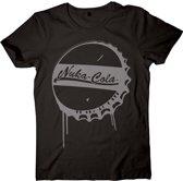 Fallout 4 Nuka Cola Bottle Cap Black TShirt M