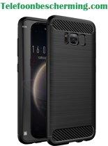 Luxe Siliconen TPU Schokbestendig hoesje armor rugged case voor Samsung Galaxy S8 - Zwart