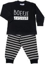 Fun2Wear Boefje Pyjama Black maat 98