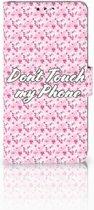 Nokia 8 Uniek Boekhoesje Flowers Pink DTMP