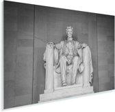 Prachtige afbeelding van het Lincoln Memorial Plexiglas 180x120 cm - Foto print op Glas (Plexiglas wanddecoratie) XXL / Groot formaat!