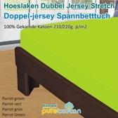 Homéé - Hoeslaken Double dik jersey stretch 210g. p/m2 100% katoen - groen - 90/100x200 +30cm