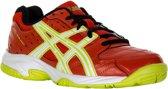 Asics Gel-Squad GS Indoorschoen Junior Sportschoenen - Maat 35.5 - Unisex - rood/wit/groen/zwart