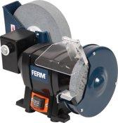 FERM BGM1021 Tafelslijpmachine - Nat & Droog slijpen - 250W - Veilig en Stabiel - Stofvrije schakelaar - Incl. P80 Slijpsteen (Nat), P36 Slijpsteen (Droog), Veiligheidsbril en vonkvangers