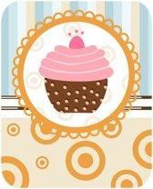 Papillon Afdruipmat met print - antislip keukenmat - cupcake - 50x40 cm