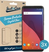 Just in Case Screen Protector Wiko View - Crystal Clear - 3 stuks