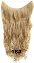 Wire hair extensions wavy blond - 18#