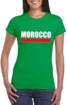 Groen Marokko supporter t-shirt voor dames S