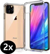 iPhone 11 Pro Max Hoesje Anti Shock Proof Siliconen Hoes Case - 2 PACK