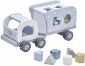 Blokken Sorteren Vrachtwagen Blauw Kidsconcept