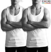 DICE 2-pack Heren Hemd zonder Zijnaden