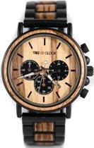 Tree O' Clock | Houten horloge Heren | Kenia