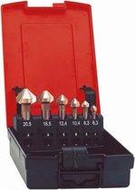 Kopverzinkboren-set HSS DIN 335-C 6,3-20,5mm, 90° In kunststof cassette 7-delig FORMAT