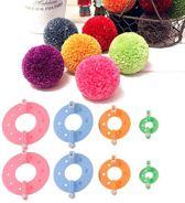 PomPon Maker -  Pompom maker - Pom-pom maker - Pompon maker - Pom Pom maker - Set van 8 stuks 4 Maten - 9/7/5.5/3.5 centimeter