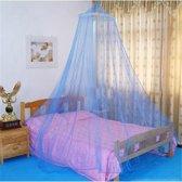 Ronde Klamboe Blauw  - Muskietnet / Standaard Reisklamboe 1 Persoons (Kinder) Bed