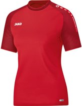 Jako Champ Dames T-Shirt - Voetbalshirts  - rood - 42