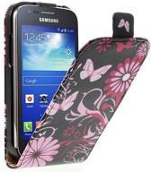 Flip case Butterfly zwart Samsung Galaxy Galaxy mini 2