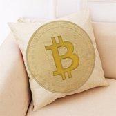 Bitcoin Kussenhoezen – Set van 2 Unieke Crypto Kussen Hoezen – Kussenhoes 45x45