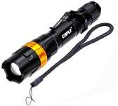 KX-H50 370LM Zoom Bolle lens LED-zaklamp, Cree Q5 LED, 3-mode, wit licht, met clip & riem