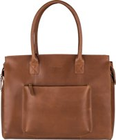 BURKELY BY BOL.COM Evelyn Laptopbag 15,6 inch Aktetas - Cognac - Groot Formaat