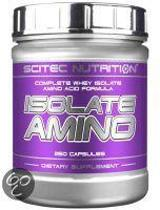 Scitec Nutrition - Isolate Amino - Complete Whey Isolate Amino Acid Formula - 250 caps - 62 porties