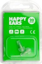 Happy Ears / Cool ears oordopjes 25dB herbruikbaar groen festival