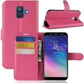 Book Case Hoesje Samsung Galaxy A6 (2018) - Roze