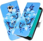 Vlinder booktype wallet case Hoesje voor Samsung Galaxy J8