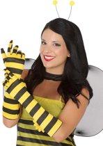 Bijen handschoenen voor vrouwen - Verkleedattribuut