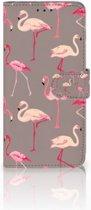 Samsung Galaxy S10 Plus Uniek Boekhoesje Flamingo